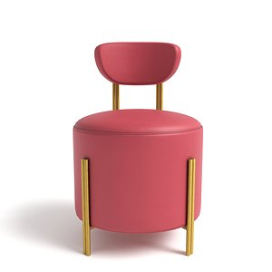 3D model Melange vanity stool by Kelly Wearstler