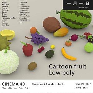 cartoon fruit model