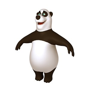 panda cartoon toon 3D