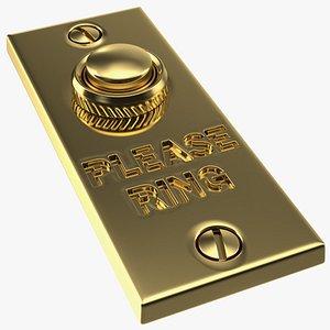rectangular doorbell button door 3D model
