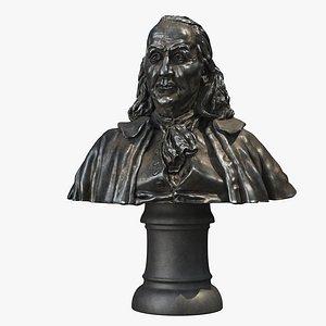 3D model franklin bust statue