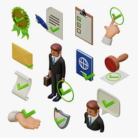12 checkmarks icon set