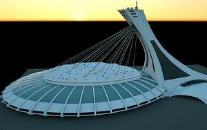 stadium olympique montréal 3D model