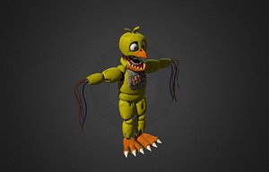 3D fnaf 2 withered chica