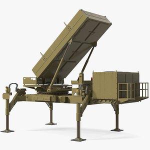 3D Ground Based Mobile Multi Mission Radar Rigged model