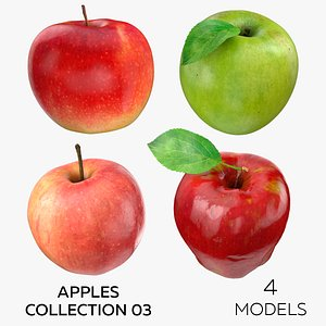 3D model Apples Collection 03 - 4 models