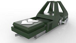 3D model weapon sight
