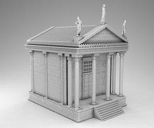 3D greek ancient temple model