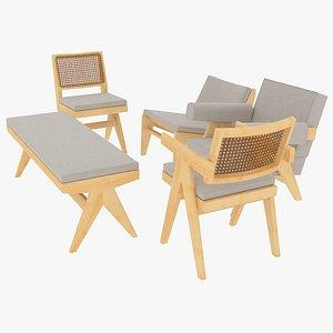 cassina cushions seating 3D model