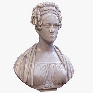 Bust of Caroline 3D model