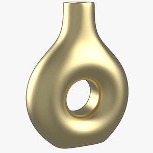 Torus Brass Vase 3D model