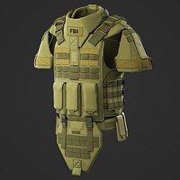 Body armor Marvelous Designer