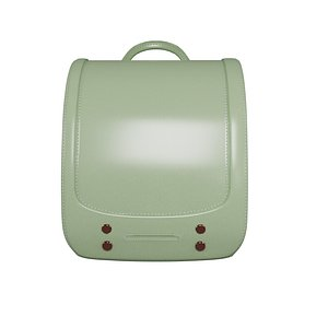student green bag v9 3D model