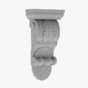 Scroll Corbel 58 - 3D Printable model