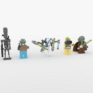 Lego Star Wars Minifigures Collection - Set 5 3D model