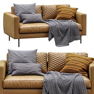boutique leather sofa moooi 3D model