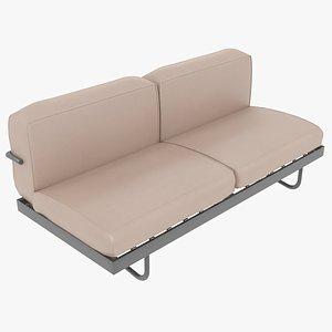 sofa le corbusier cassina 3D model