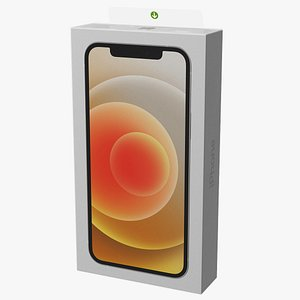 iphone 12 package box 3D model