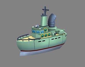ship warship war 3D