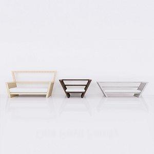 3D revit family wood model