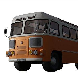 PAZ 672 soviet autobus Low-poly 3D model