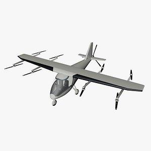 3D Electric propelledaircraft model