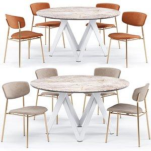 cartesio dining table fifties 3D