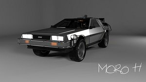 DeLorean dmc-12 back to the future 3D model