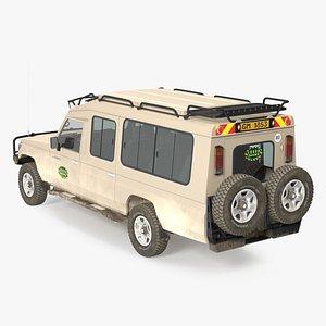 Toyota Land Cruiser Safari Beige Dirty Rigged 3D model