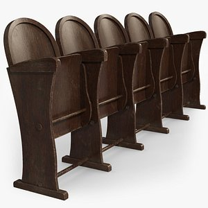 3D model Wooden Bench