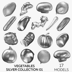 Vegetables Silver Collection 01 - 17 models 3D