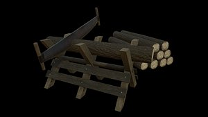 3D Saw and logs model