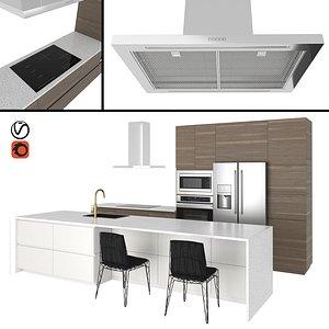 3D model chair voxtorp kitchen