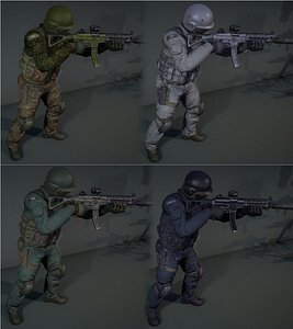 soldier mercenary human model