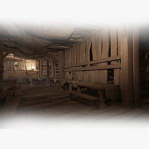 3D ancient hotel