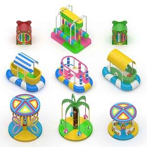 Soft Playground Swing 3D model