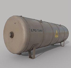 Lpg Storage Tank Old 3D model