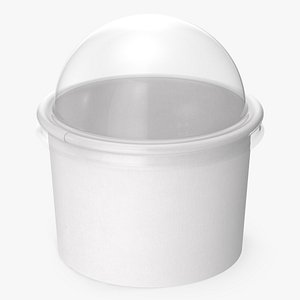 3D paper food cup clear model