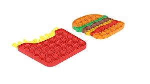 3D Fast Food Pop It Fidget Toys Set