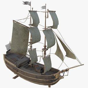 3D Sailing Ship Barque