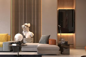 living room  Dinning room 3D