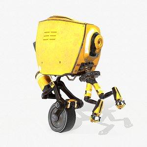 3D Monocykl Sci-Fi Robot model