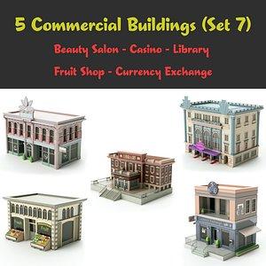 set 07 shop store 3D model