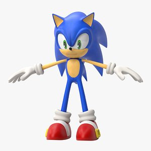3D sonic animation character model