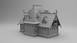 3D large izba russian