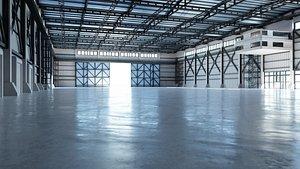 3D model hall industrial interior