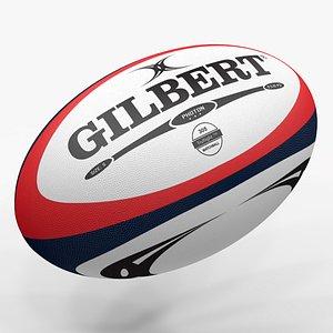 3D Rugby Ball Gilbert L1475 model