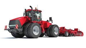 3D tractor trailed disc harrow