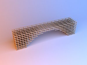 3D Parametric wood pouf-bench model