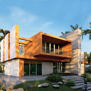3D villa modern